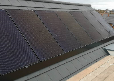 12kWh system with Solar Skirting & TESLA Powerwall