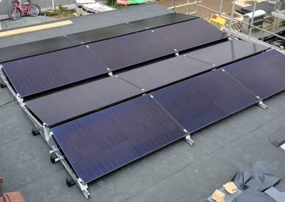 Flat roof Solar PV installation, West Kingsdown