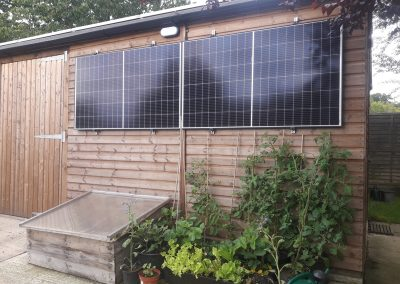 16xJA Solar Panels on a Timber Frame Garage